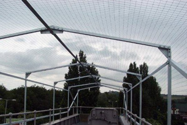 Protective Bird Netting allowing safe access to walkway