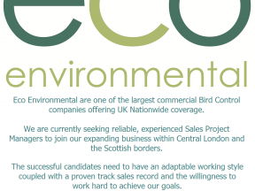Eco Environmental seek experienced Sales Project Manager