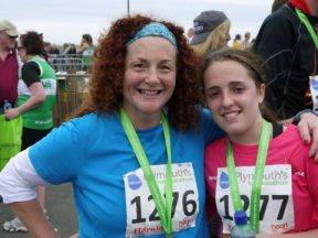 We did it! Running Plymouth Half Marathon for Charity