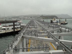 Eco Anti Climb Spike System fitted to Plymouth Barbican Landing Stage